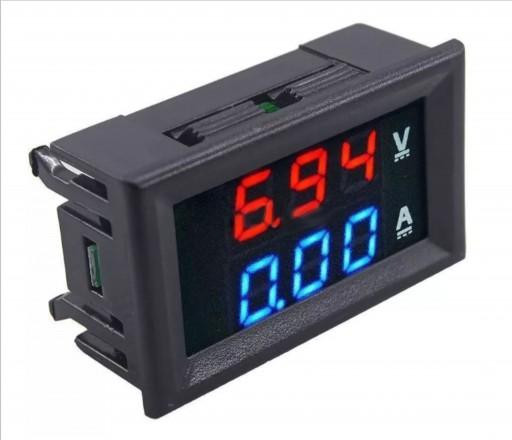 Display Voltímetro Amperímetro Vermelho Azul 5v 30v